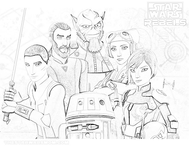 Star Wars Rebels Coloring Page - Season 4