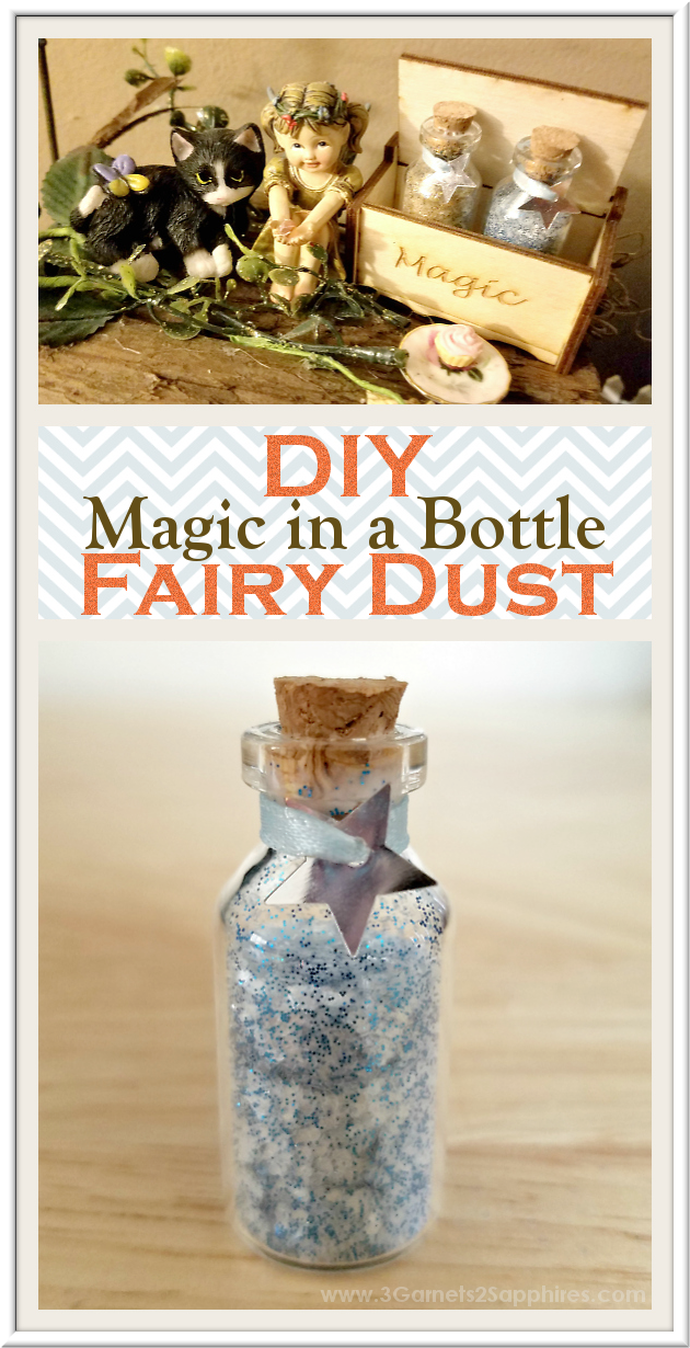 DIY Fairy Dust Bottles Fairy Garden Craft Tutorial  |  3 Garnets & 2 Sapphires