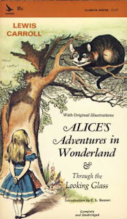 Book Cover: Alice's Adventures in Wonderland by Lewis Carroll, circa 1965, Airmont Publishing