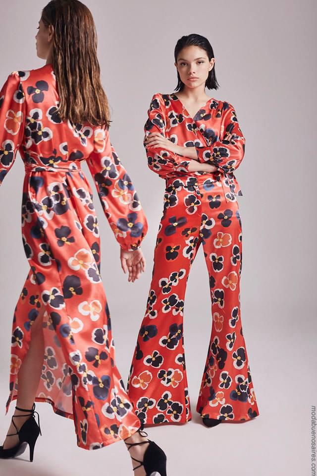 Moda otoño invierno 2019 ropa de mujer elegante y femenina. Vestidos y monos otoño invierno 2019.