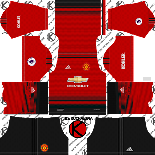 Manchester United 2018/19 Kit - Dream League Soccer Kits