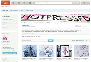 image of screen capture of Etsy shop HotPressed