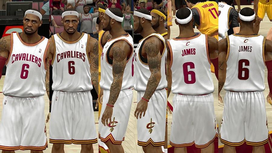 78d4fd41e040 NBA 2K14 Cleveland Cavaliers HD Jersey Pack - NBA2K.ORG