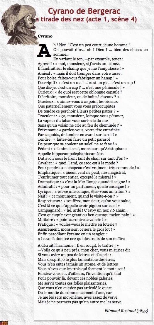 Tirade Du Nez Cyrano De Bergerac : tirade, cyrano, bergerac, L'aviron, Famille, Entre, Amis...:, Tirade, Rafiot...