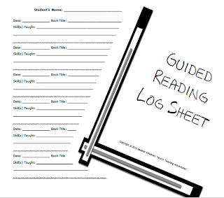 READING LOG CONFERENCE SHEET