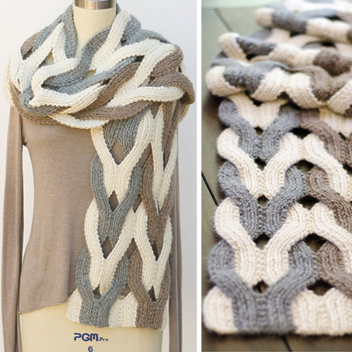 Japanese Weave Wrap Knit Pattern