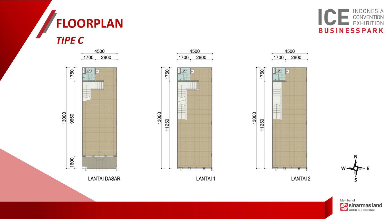 Blokplan Ruko ICE Business Park BSD - Tipe C