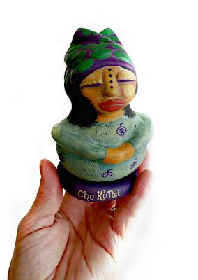 Cho Ku Rei an OOAK Reiki Prayers Spirit Doll from Gourd and Clay