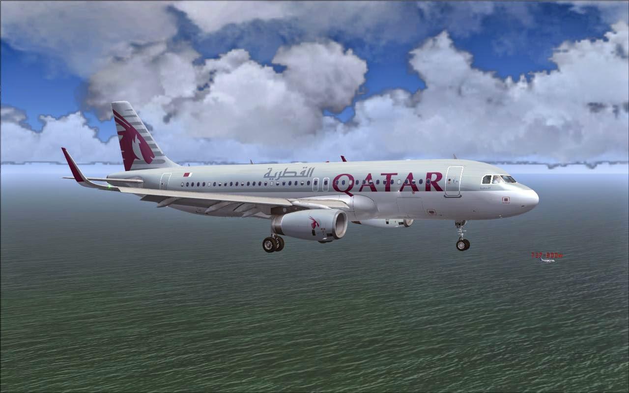 FS2004 REPAINTS: PROJECT AIRBUS A320-200SL QATAR Airways A7-AHW