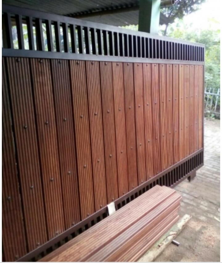 modelharga pagar kayu besi minimalis murah