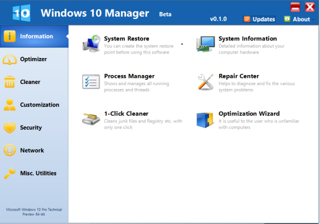 Yamicsoft Windows 10 Manager 3.2.3 poster box cover