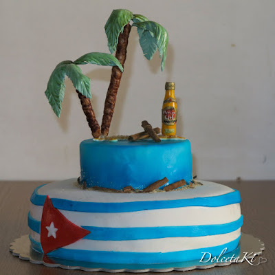 torta bandiera cubana