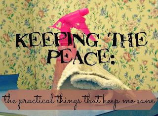 keeping the peace cleaning housekeeping organization