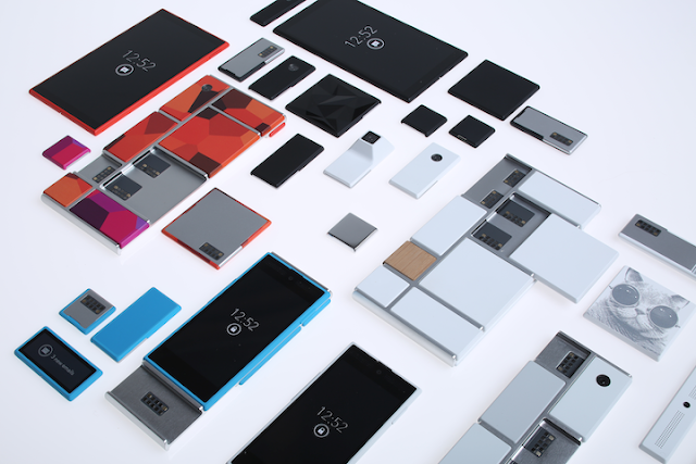 Project Ara - scattered parts