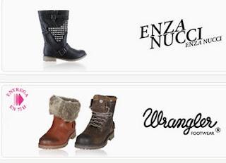 Oferta de zaapatos de Enza Nucci y Wrangler