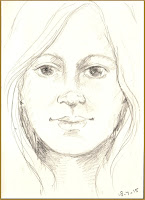 Drawing female face