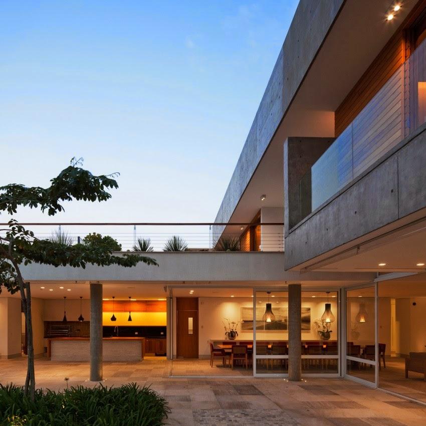 Hogares frescos casa de campo contempor nea residencia for Casa moderna l