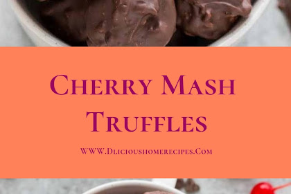 Cherry Mash Truffles #valentine #dessert