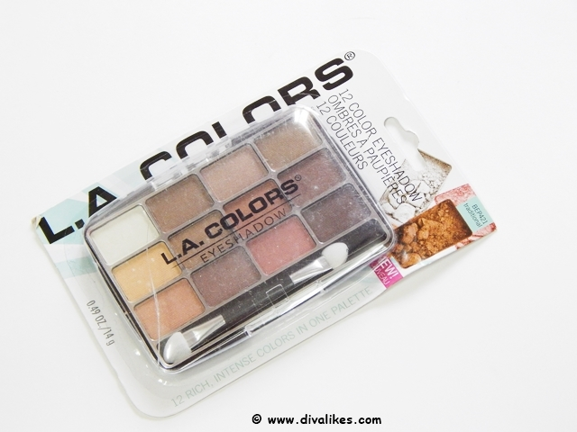 L.A.Colors 12 Color Eyeshadow Traditional Review