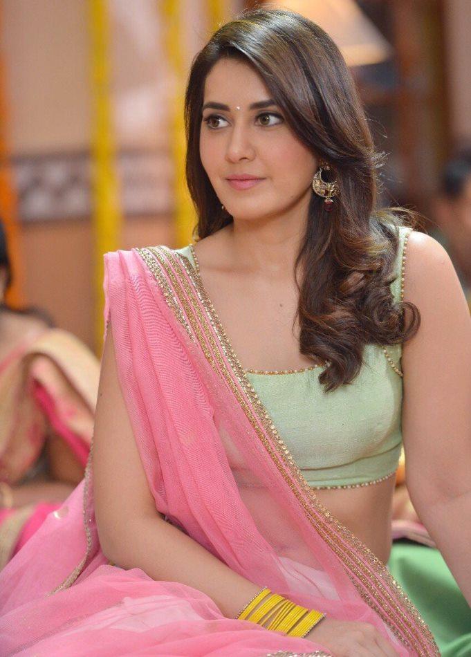Rashi Khanna In Pink Voni From Jai Lava Kusa Movie