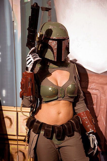 Female cosplay of Boba Fett