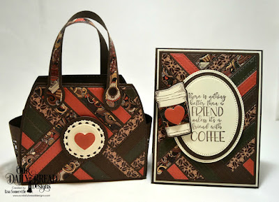 Our Daily Bread Designs Stamp/Die Duos: Hug in a Mug, Paper Collection: Latte Love, Custom Dies: Quilted Background, Timeless Tote, Timeless Tote Layers, Ovals, Pierced Ovals, Circles, Double Stitched Circles, Fancy Circles, Cups & Mugs