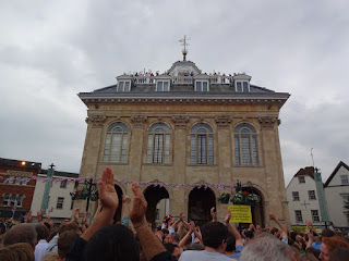 Abingdon's County Hall and Museum during the last Bun Throwing