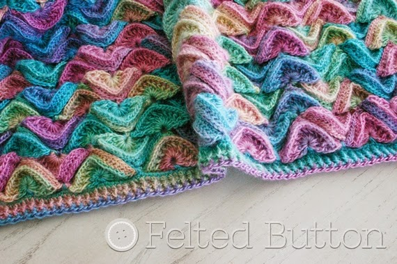 Sea Song Blanket Crochet Pattern by Susan Carlson of Felted Button