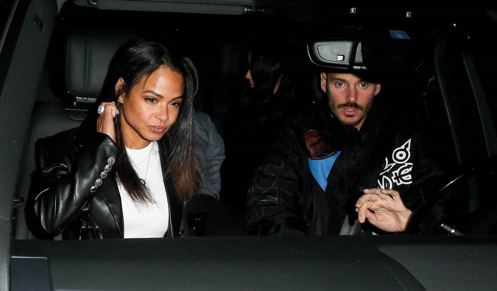Christina Milian and Matt Pokora out for a family evening at Madeos in Beverly Hills - 02/06/2019