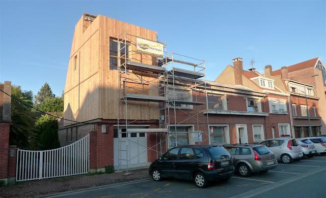 maison ossature bois, bardage, préfabrication