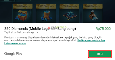 Cara Mudah Beli Diamonds Mobile Legends