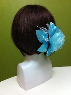 sahil düğünü turkuaz mavi topuz çiçeği