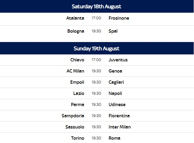 Italy serie b league table 2017 18 awesome home - Italian league fixtures and table ...