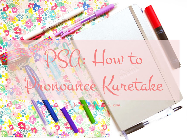 PSA: How to Pronounce Kuretake