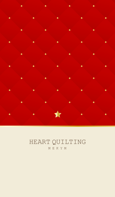 STAR QUILTING -RED-