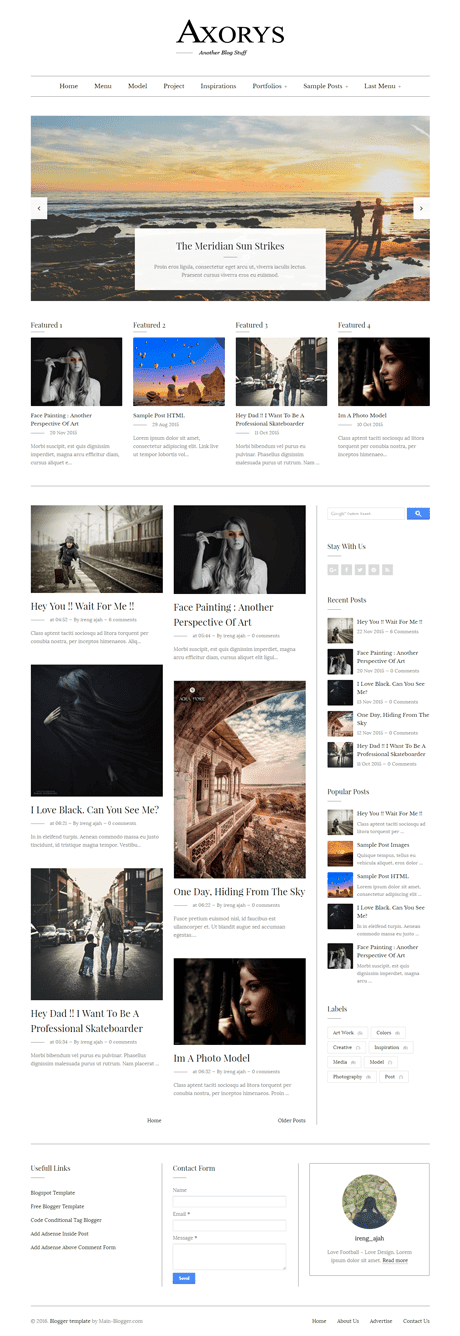responsive blogger template clean design