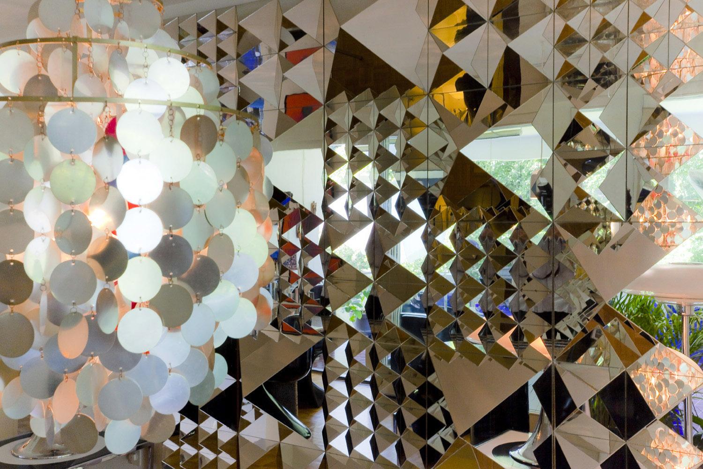 Glass Mirrored Decorative Wall Art Modern Wall Sculptures ...