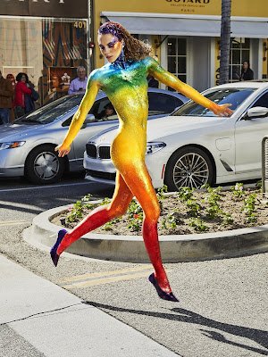 GNTM Cycle 14 13th Episode : Body Painting on Rodeo Drive Photo Shoot