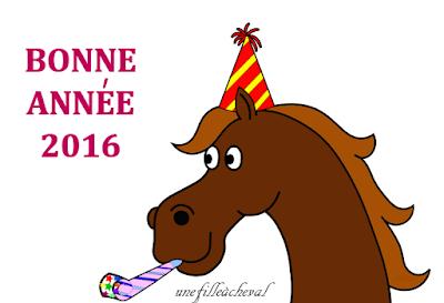 voeux - bonne année 2016 - équitation - horse