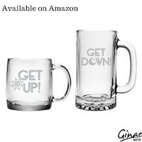 Get Up Coffee Mug and Get Down Beer Mug Gift Set