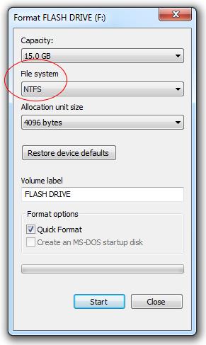 Sửa lỗi USB không cho lưu file hơn 4GB