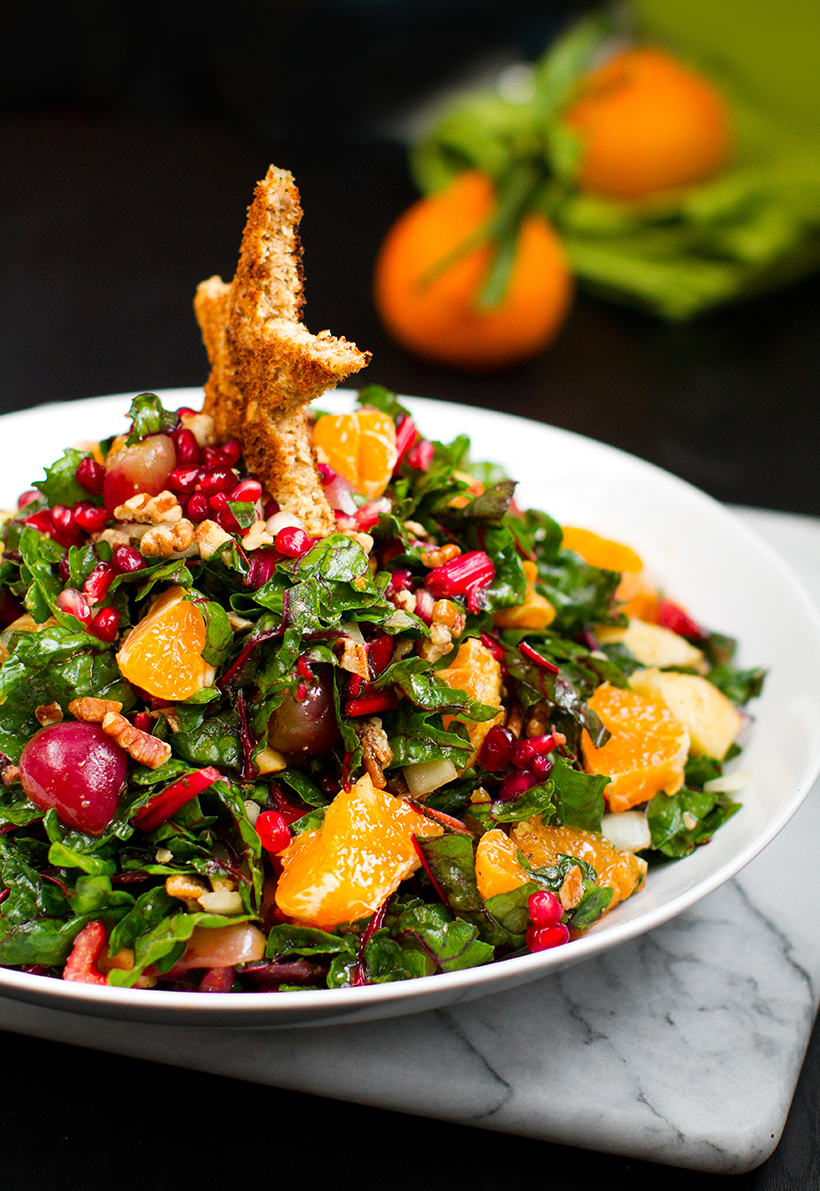festive holiday Christmas tree salad