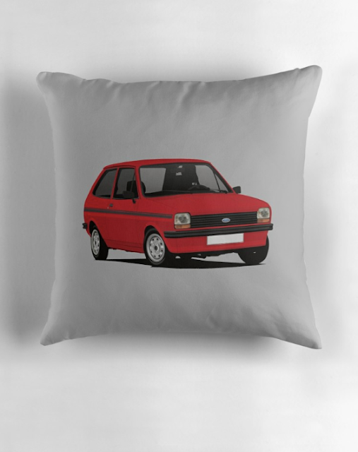 Ford Fiesta Mk1 - home decor pillow