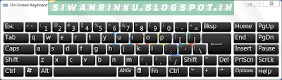 Virtual key board