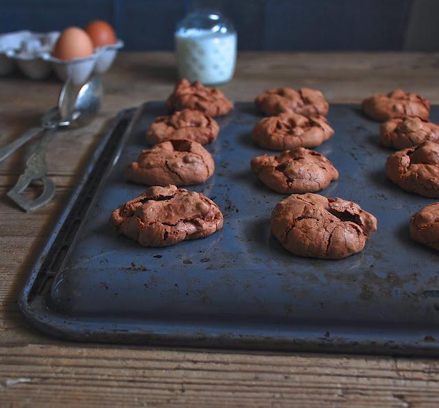 Cookies merengue de chocolate