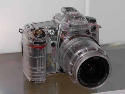 Cámara fotografica transparente