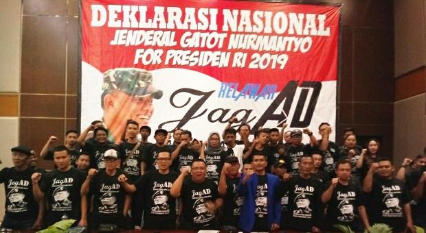 Deklarasi Relawan JAGAD Dukungan Gatot Nurmantyo Capres 2019