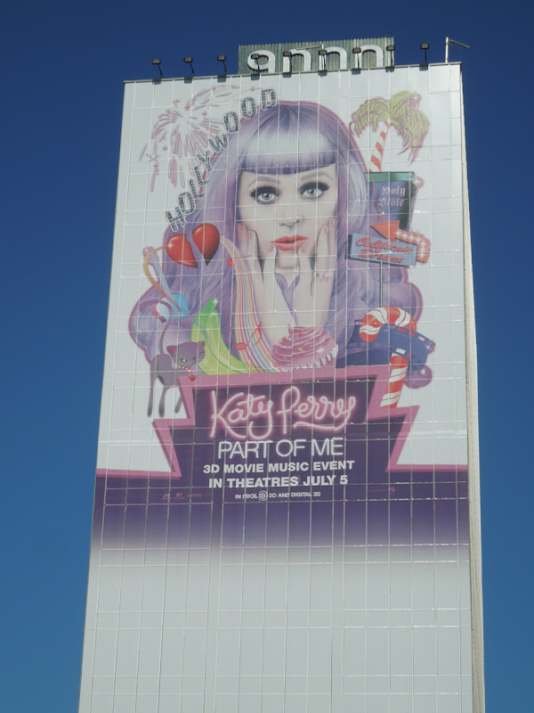 Giant Katy Perry Part of Me movie billboard
