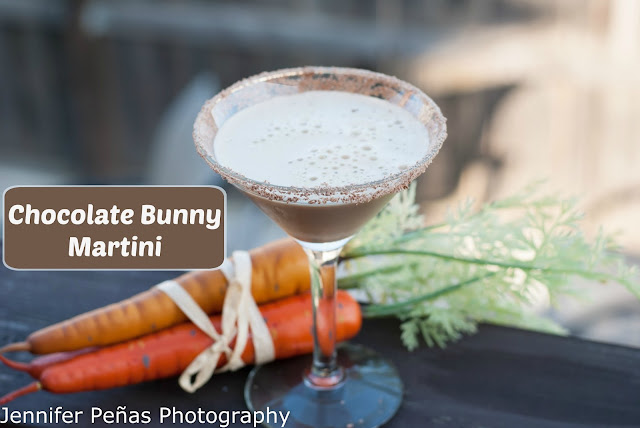 chocolate bunny martini, chocolate bunny martini picture, chocolate bunny martini photo, chocolate bunny martini image, chocolate bunny martini recipe, chocolate liqueur, vodka, Easter, Easter cocktail, Easter cocktail recipe