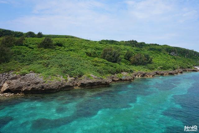 The blue sea around Kurimajima, Miyakojima, Okinawa
